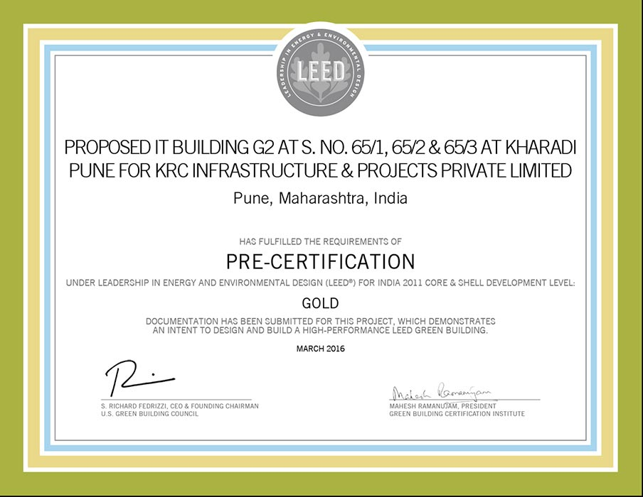 Pre Certification for K Raheja Corp\'s residential project in Kharadi ...